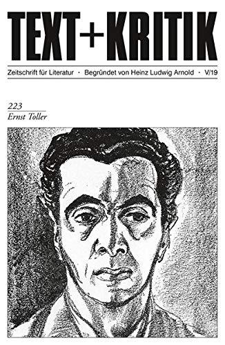 Neuerscheinung: TEXT + KRITIK 223: Ernst Toller