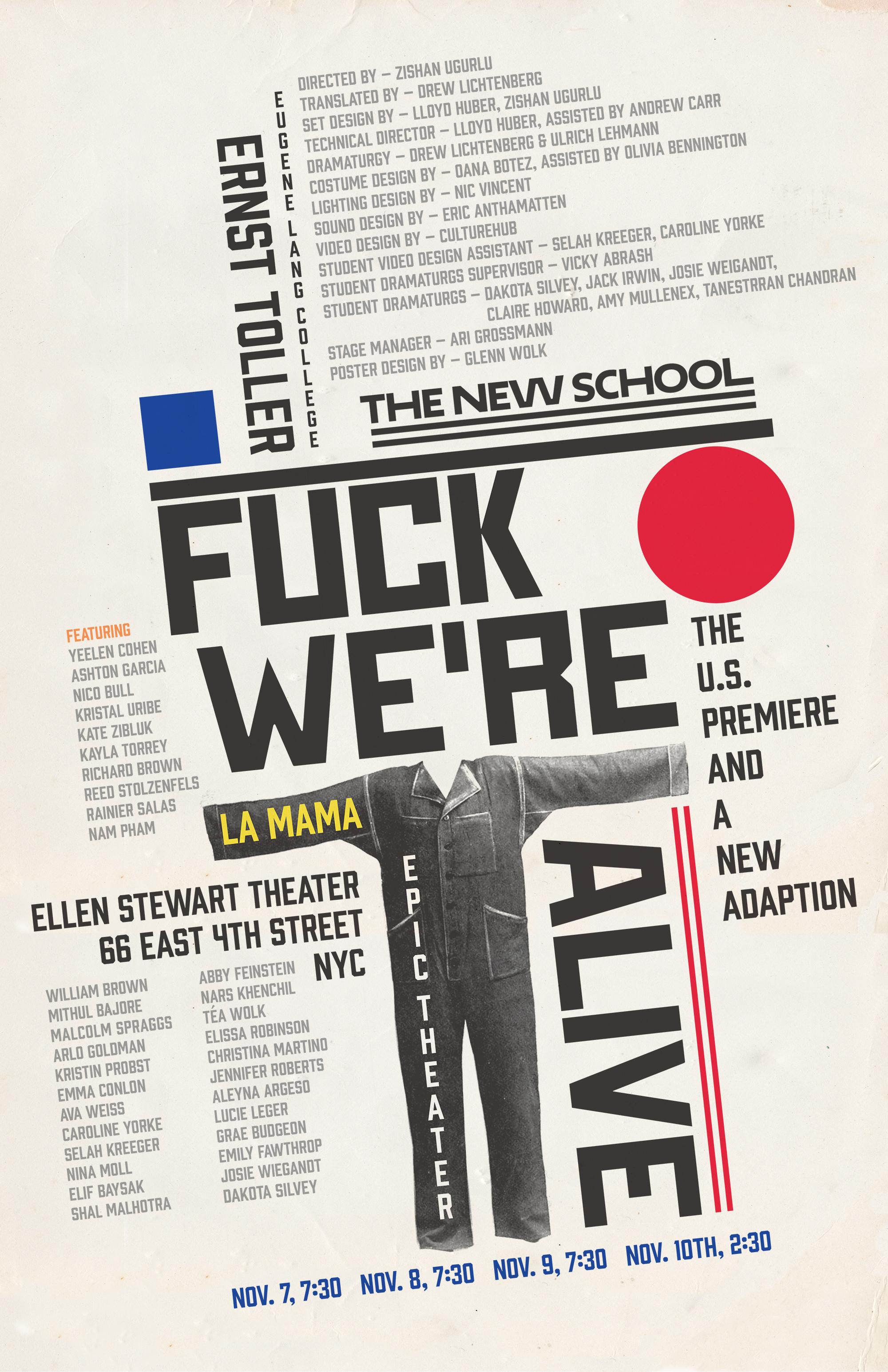 """""""Hoppla, We're Alive!"""" Toller-Aufführungen in New York"""