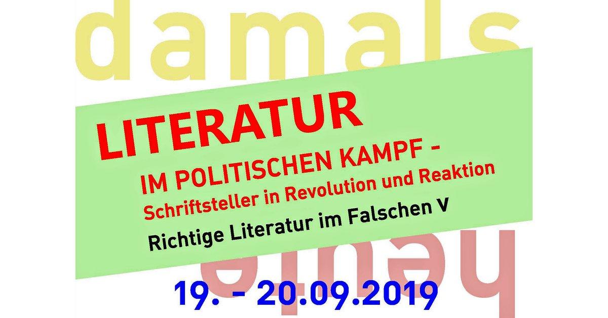 Literatur im politischen Kampf – Schriftsteller in Revolution und Reaktion