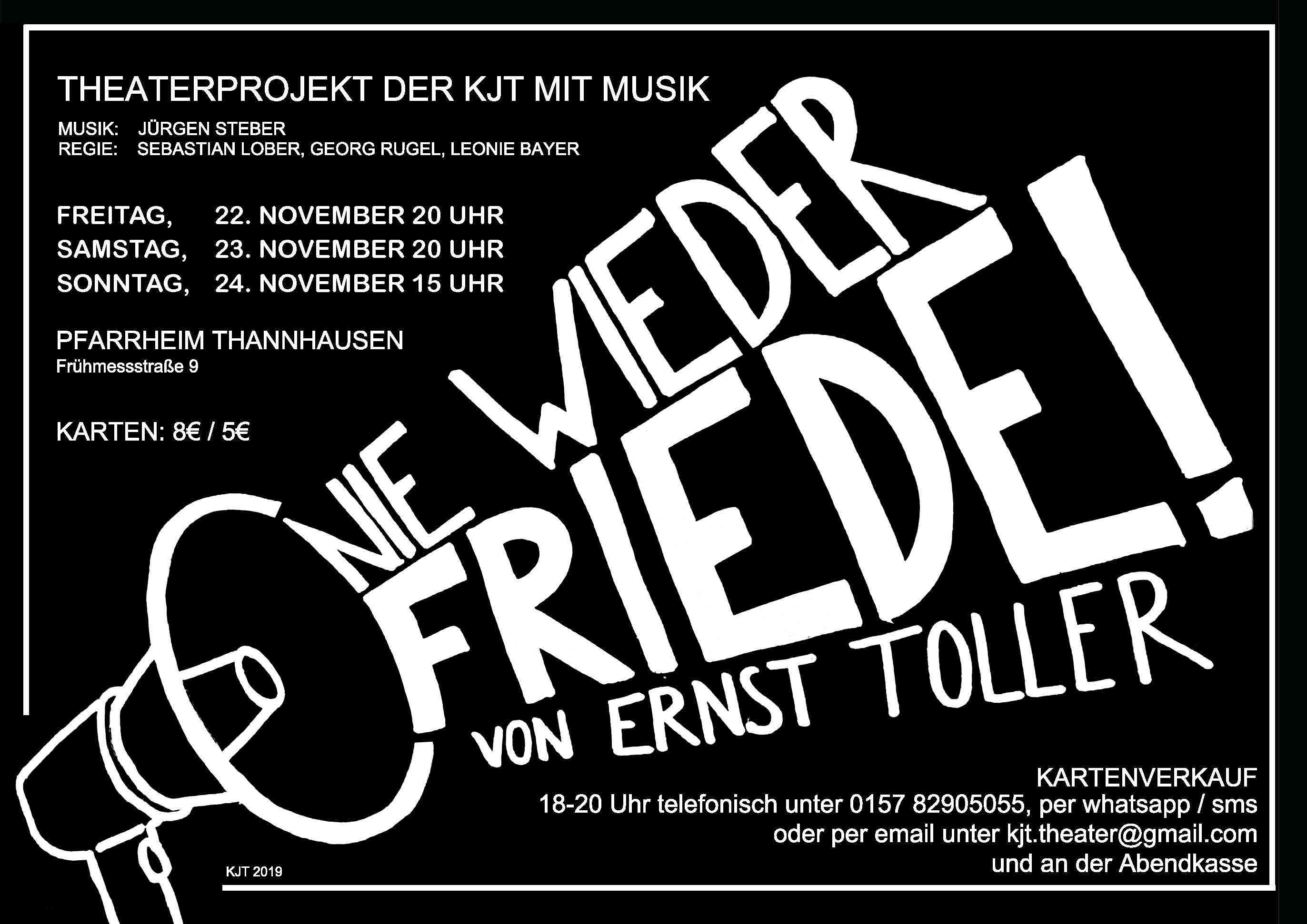 """Inszenierung von """"Nie wieder Friede!"""" in Thannhausen"""